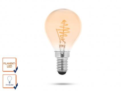 LED Leuchtmittel Globe 3 Watt, 150 Lumen, 2000 Kelvin, E14-Sockel Filament LED