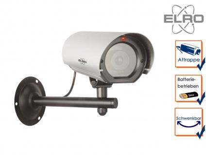 Kamera Attrappe Blink LED Aluminium Fake Dummy Innen & Außen Überwachungskamera