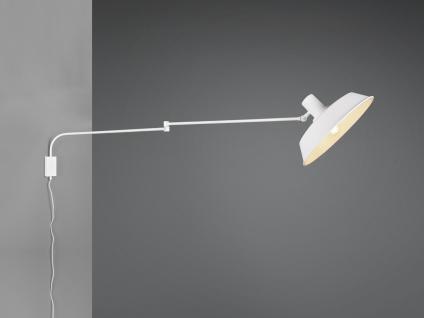 Hängende Wandlampe Schwenkarmleuchte mit Metallschirm Kabel Schalter und Stecker