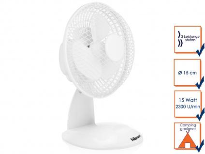 Mini Tischventilator weiß 2 Stufen 46, 49dB Ø15cm H. 26cm Ventilator Luftkühler