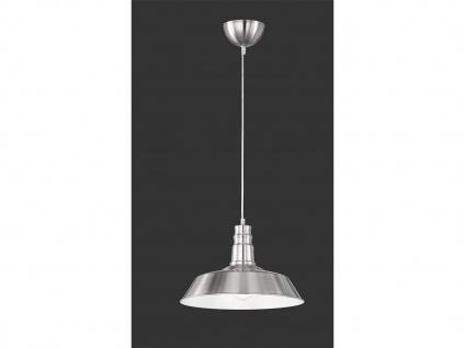 Retro LED Pendelleuchte Ø31cm in Nickel matt Hängelampe für Esszimmer Flurlampe