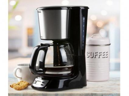 Edelstahl Kaffeemaschine für 12 Tassen mit Glaskanne, Timer & Abschaltautomatik