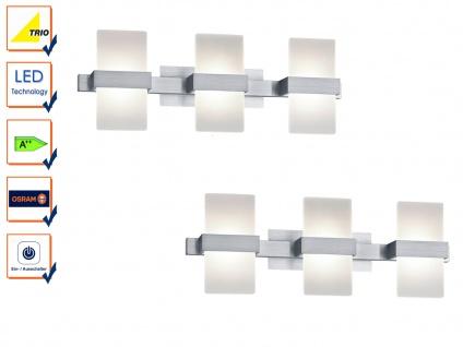 LED Wandleuchte Wandlampe Wandbeleuchtung PLATON Aluminium 2er Set 50x18cm