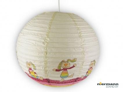 Kinderlampe mit Papier Lampenschirm RABBIT Lampion Hängeleuchte Kinderzimmer
