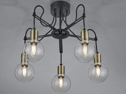 LED Deckenlampe höhenverstellbar bis 45cm in schwarz matt/bronze, Ø 57cm, E14