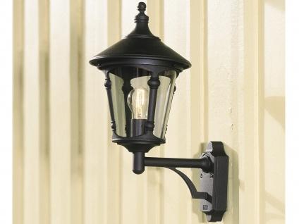 2er Set Konstsmide Außenwandleuchte VIRGO schwarz, Laterne Leuchte Hauswand E27 - Vorschau 4