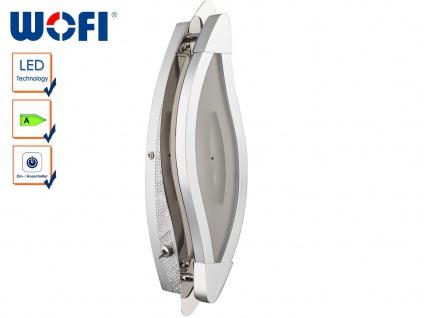 LED Wandleuchte mit Schalter, Chrom / Arylglas, Wofi-Leuchten - Vorschau 1