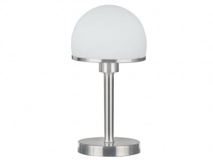 Dimmbare TOUCH-Tischleuchte, E27, Ø 16 cm, Nickel matt Trio-Leuchten