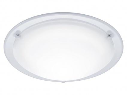 LED-Deckenleuchte Ø 30cm, 10W, weiß / Glas satiniert, Trio-Leuchten