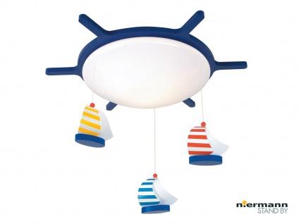 Kinderzimmerlampe rund Ø53cm SEGELBOOTE Mobile Deckenlampe für Kinderzimmer