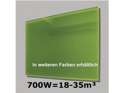 700W Infrarot-Glaspaneel grün, 110x60cm, für Räume 18-35m³