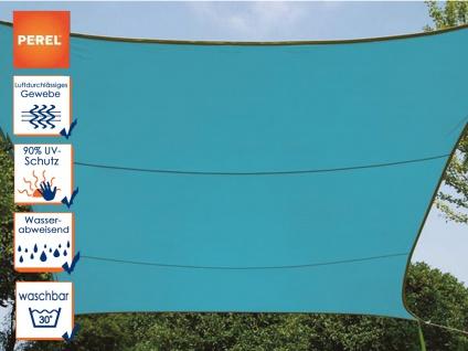 Sonnensegel rechteckig 12m² blau, wasserfester Sonnenschutz für Terrasse Balkon