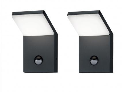 LED Außenwandlampe mit Bewegungsmelder Anthrazit 2 Außenleuchten Hausbeleuchtung - Vorschau 2