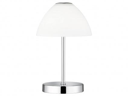 Mini LED Tischleuchte QUEEN Metall 4-fach Touch Dimmer Chrom glänzend, 24cm hoch