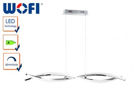 LED Pendelleuchte IDANA, Chrom, H. 150cm, LED Hängeleuchte Hängelampe Pendel