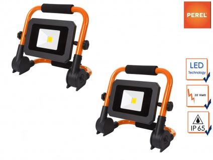 2er Set tragbare 20W Baustrahler LED Fluter Arbeitsscheinwerfer klappbar, IP65