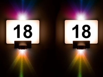 2er Set LED Hausnummernleuchten mit Bewegungsmelder, RGB Wandleuchten App