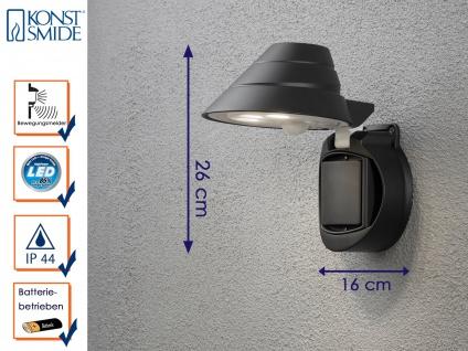 LED Wandaufbauleuchte Bewegungsmelder Batteriebetrieb IP44 Wandleuchte außen