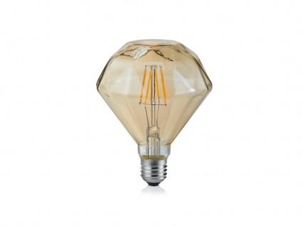 Edles Diamant LED Leuchtmittel mit E27 Fassung 4W & 320Lm warmweiß, amberfarbig