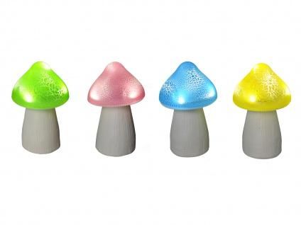 Solarfiguren im 4er SET - Gartedeko LED Pilze für draußen, IP44 geschützt, bunt
