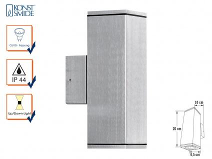 Aluminium-Wandleuchte MONZA, Up/Down-light, GU10-Sockel, H: 20 cm, IP44