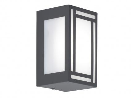 2x LED Außenwandleuchte Edelstahl Kunststoff Wandlampe außen Fassadenbeleuchtung - Vorschau 4