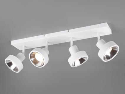 RETRO LED Deckenstrahler 4-flammig Weiß Beleuchtung Flur, Diele & Treppenhaus