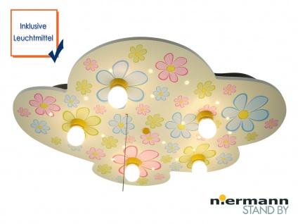 LED Kinder Deckenleuchte mit 5 LEDs Sternenhimmel Zugschalter für Schlummerlicht