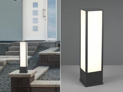 LED Außenwegeleuchte in Anthrazit eckige Sockelleuchten Gartenlampen mit Strom