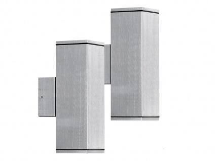 2er-Set Aluminium-Wandleuchten MONZA, Up/Down-light, GU10-Sockel IP44