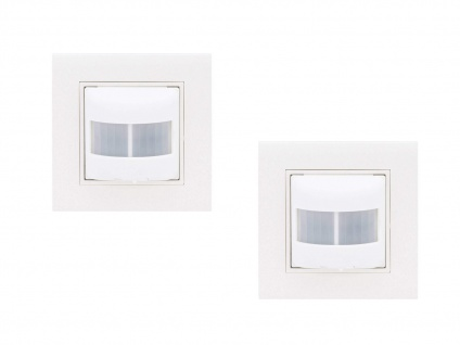 2er Set Unterputz Bewegungsmelder 120° weiß, Bewegungssensoren innen