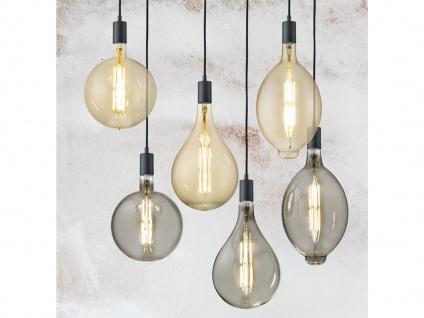 Filament LED Leuchtmittel Tropfen E27 Sockel dimmbar 8Watt 260 Lumen rauchfarbig - Vorschau 4