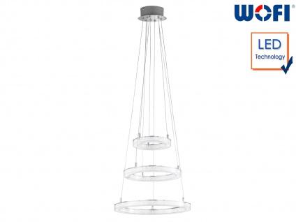 LED Hängeleuchte Ringform Ø 40cm Chrom 54W Desing Pendelleuchte Esstischlampe