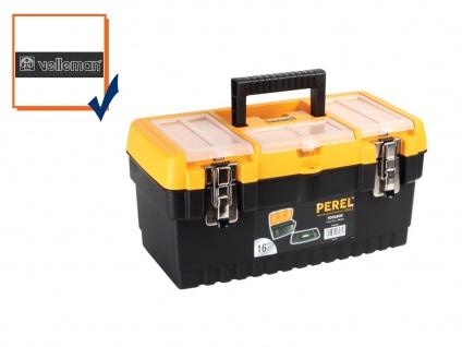 Werkzeugkiste Werkzeugkasten Werkzeugkoffer Kunststoff 413x212x186mm OM16M