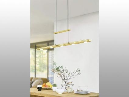 LED Pendelleuchte Blattgold mit TOUCH Dimmer höhenverstellbar für über Esstisch