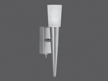TRIO Wandleuchte, ink. 1 x G9/28W, mit Schalter, Höhe 27cm, Nickel