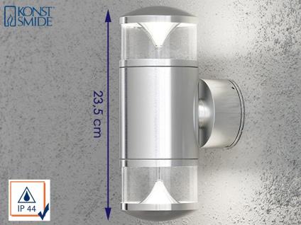 Konstsmide Energiespar Außenwandleuchte MONZA, Uplight Downlight Wandlampe IP44