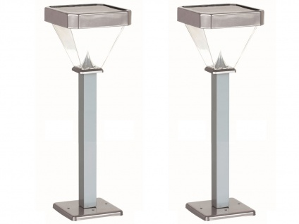 2er Set LED Solarleuchten Wegeleuchten 1m, Gartenlampen Solar Außenbeleuchtung - Vorschau 2