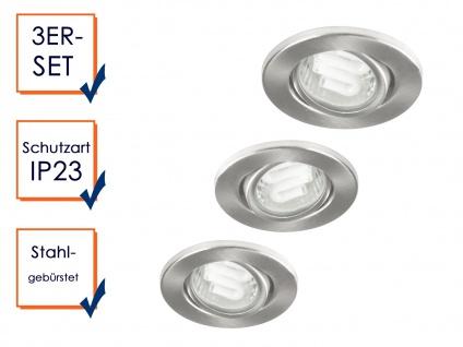 XQ-Lite Ranex Nova 0970 3er Set Einbauspots inkl. 3x GU10 Leuchten á 9W