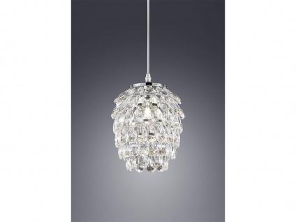 1 flammige Designer Pendelleuchte Lampenschirm Ø20cm mit Acryl Kristallbehang - Vorschau 1
