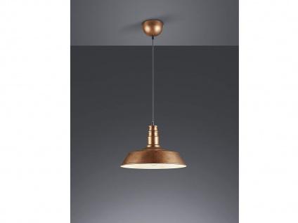 Retro LED Pendelleuchte Ø31cm in Kupfer antik Hängelampe für Esszimmer Flurlampe - Vorschau 1