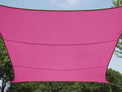 Sonnensegel rechteckig 12m² rosa, wasserfester Sonnenschutz für Terrasse Balkon