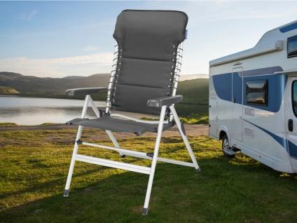 SET 2 stabile bequeme Balkonstühle klappbar Liegestuhl Campingstühle Klappstühle - Vorschau 5