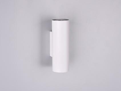 Zeitlose Wandleuchte Marley aus weißem Metall mit 2 GU10 Sockel, Up- & Downlicht - Vorschau 4
