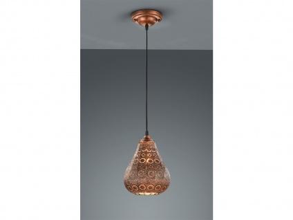 LED Pendelleuchte Orientalisch Marrakesch Marokko Design Esstisch Kupfer antik