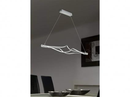 Ausgefallene LED Pendelleuchte 117cm breit Nickel matt mit 4-fach TOUCH Dimmer