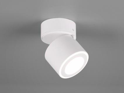 Kleiner LED Deckenstrahler Weiß rund schwenkbare Deckenlampen für Flur und Diele - Vorschau 1