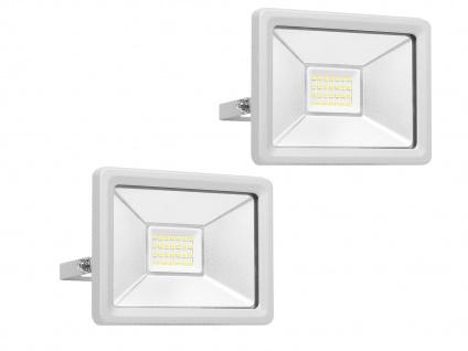 2 Stk 20W Strahler grau Baustrahler LED neutralweiß Scheinwerfer Arbeitsleuchte - Vorschau 2