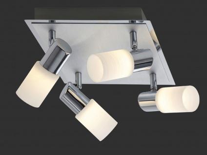 LED Deckenlampe Strahler mit 4 schwenkbaren Spots - moderne Deckenbeleuchtung