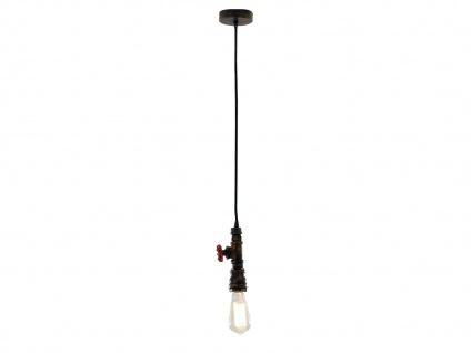 1 flammige LED Pendelleuchte Hängelampe - Industrielook mit Wasserrohr Rostoptik